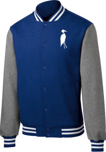 Sixteen Seventy Men's Varsity Jacket Royal Grey