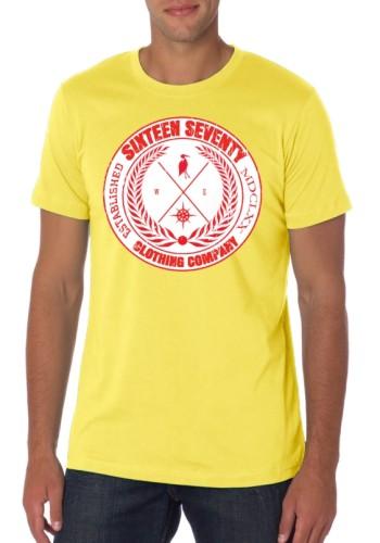 Sixteen Seventy Men's Yellow Compass T-shirt