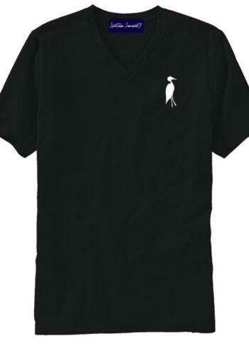 Sixteen Seventy Men's V-neck Black White