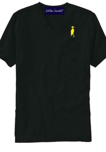 Sixteen Seventy Men's V-neck Black Yellow