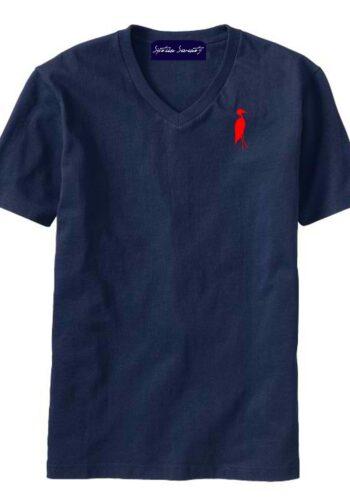 Sixteen Seventy Men's V-neck Navy Red