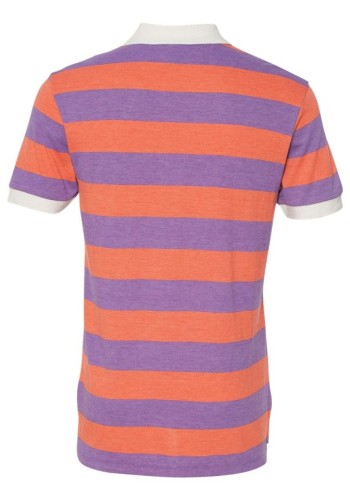 Sixteen Seventy Striped Polo orangepurpleback