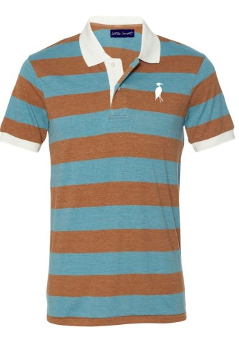 Sixteen Seventy Striped polo Brownblue