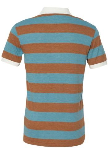 Sixteen Seventy Striped polo Brownblueback