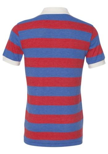 Sixteen Seventy Striped polo RedNavyback