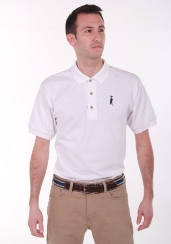 Sixteen Seventy White Navy Polo