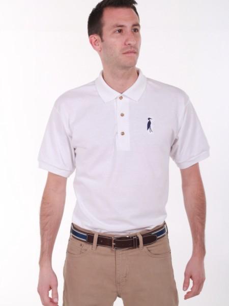 Sixteen Seventy White Navy Polo