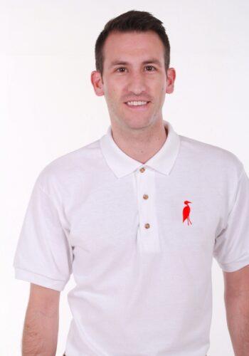 Sixteen Seventy White Red Polo
