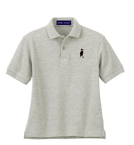 Sixteen Seventy Youth  Grey Black Polo