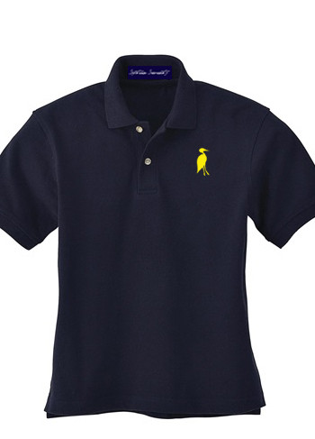 Sixteen Seventy Youth  Navy Yellow Polo