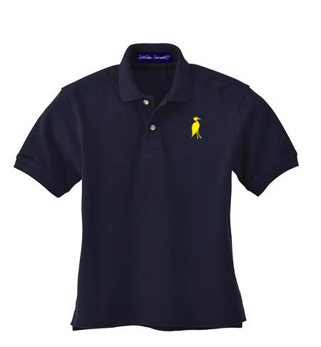 Sixteen Seventy Youth  Navy Yellow Polo